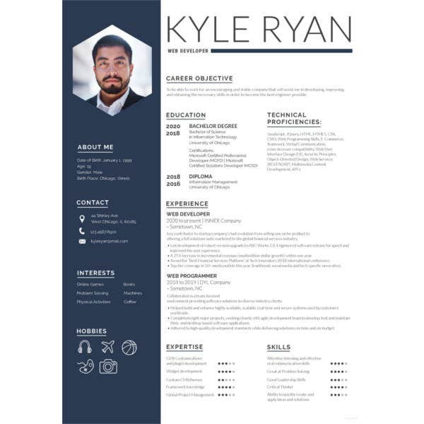 11+ Web Developer Resume Templates - DOC, PDF | Free & Premium Templates