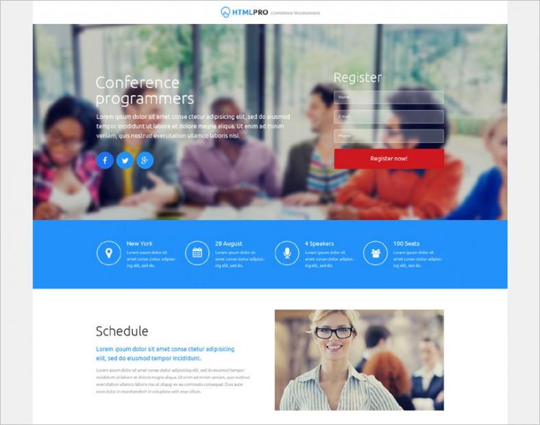 Web Development Responsive Landing Page Template1
