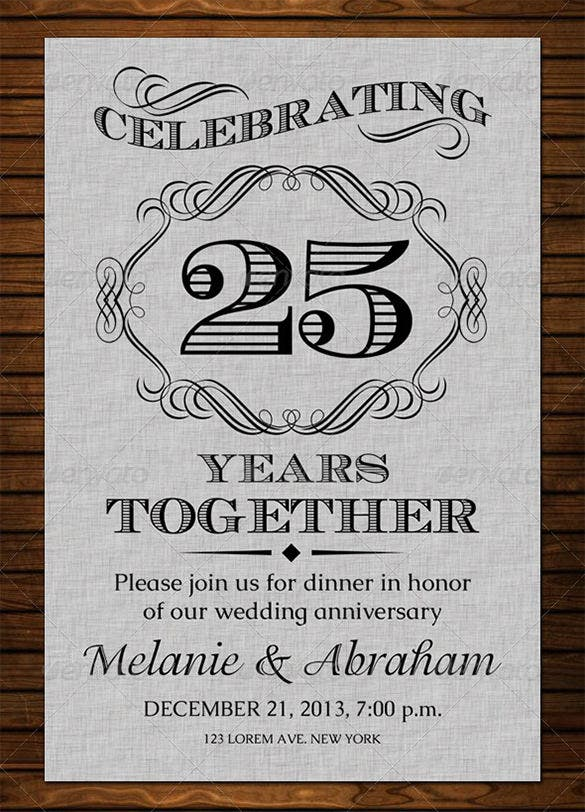 wedding anniversary card psd template 4