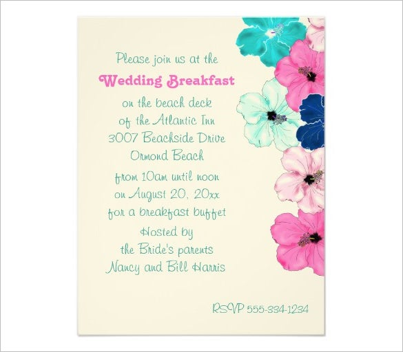 Wedding Breakfast Invitation Template 10 wonderful breakfast invitation templates free & premium,Wedding Breakfast Invitations