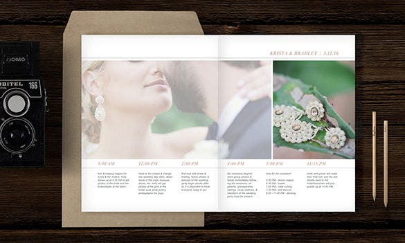 wedding day timeline template psd design 15