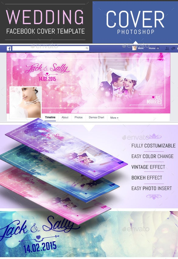 wedding facebook timeline cover template psd 2