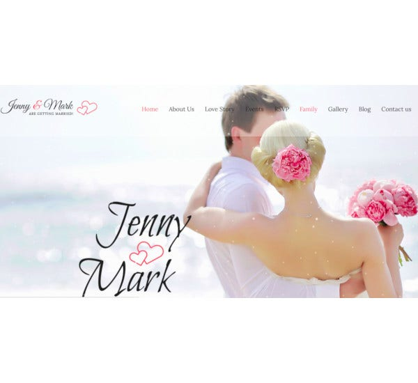 wedding invitation couple celebration joomla theme