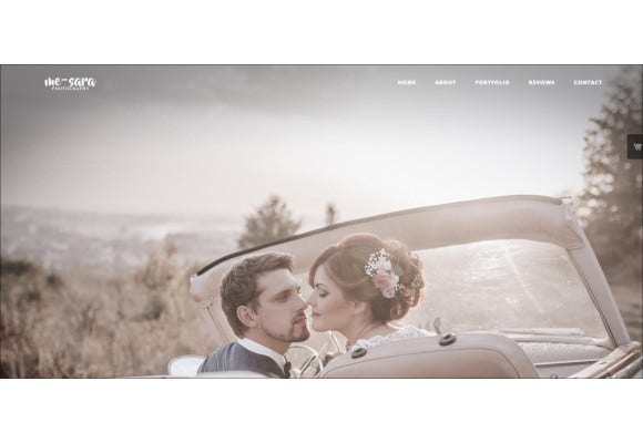 wedding photographer bootstrap template