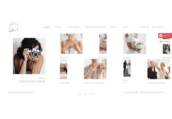 wedding photography theme template