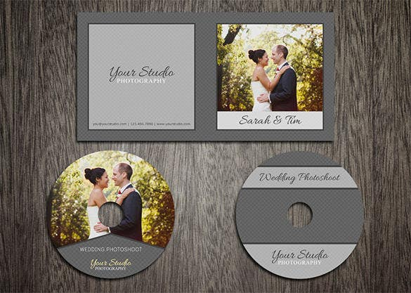 wedding photoshoot dvd cover psd template