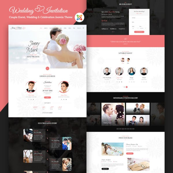 wedding resonsive event joomla template