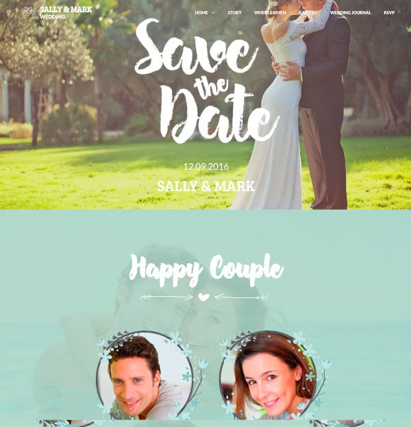 wedding responsive wedding template 19