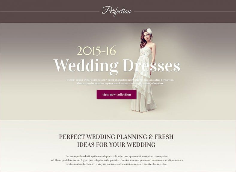 wedding venues responsive landing page template 788x576