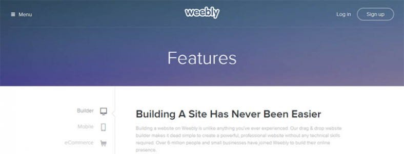 Best website builders easy website design tools free for Weebly site templates