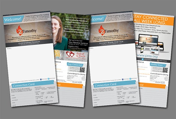weekly church bulletin layout illustrator template free