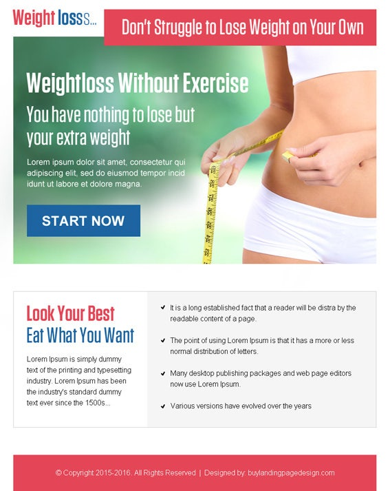 Weight Loss Ppv Landing Page Design Preview