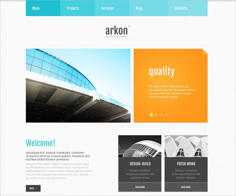 White Background Joomla Template for Construction Company