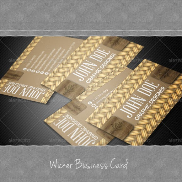 wicker business card