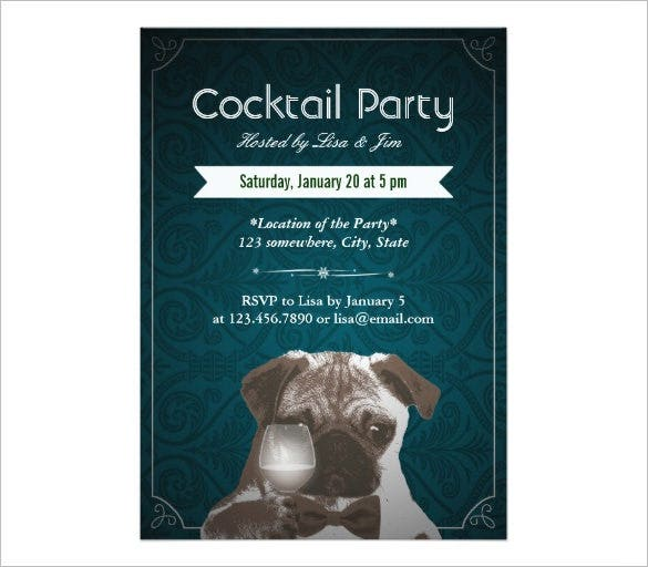 Cocktail party invitation wording – Free Cocktail Party Invitation Templates