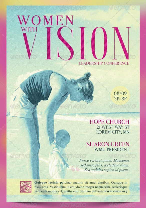 women with a vision mothers day flyer template