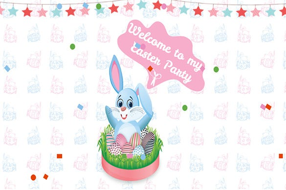 wonderful easter party invitation template