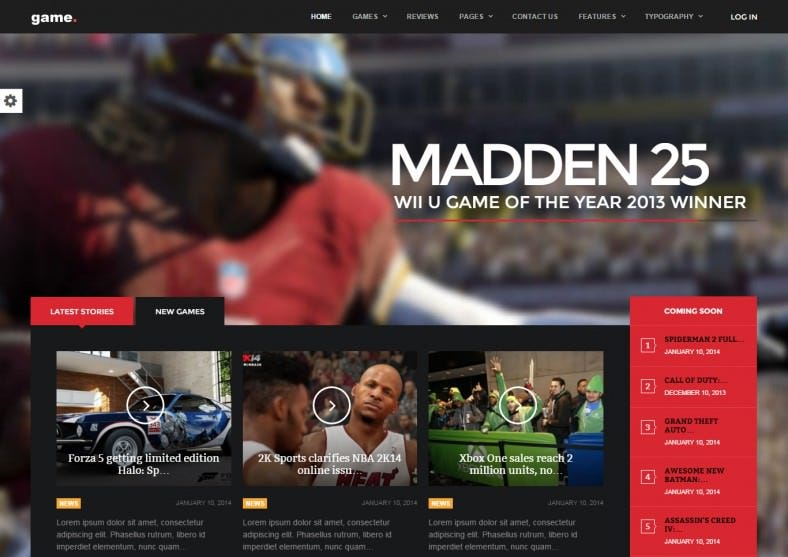 wordpress gaming theme 788x557