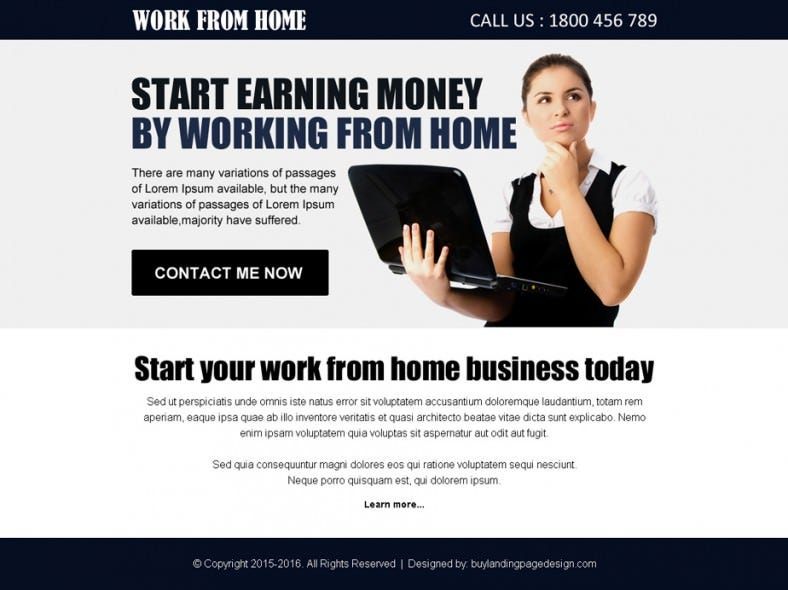 Work From Home Ppv Landing Page Template