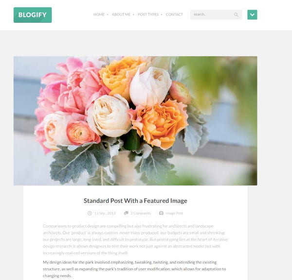 writer php responsive wordpress blog theme