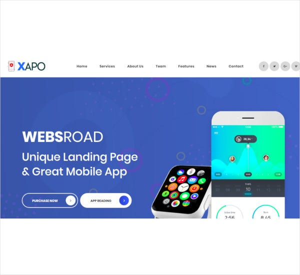 xapo-responsive-landing-page-template