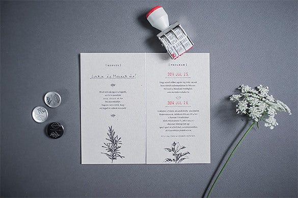 zsófis wedding graphic design template free download