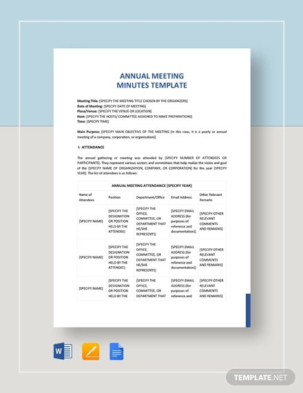 annual general meeting minutes