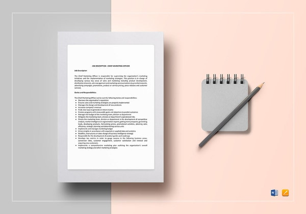 Job Description Templates   Free Word Excel Pdf  Free