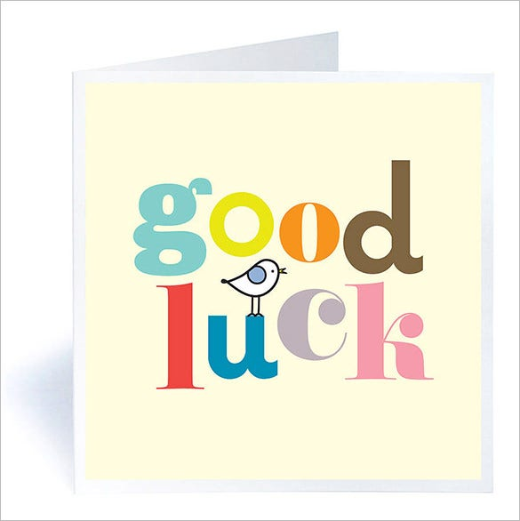 colourful good luck card