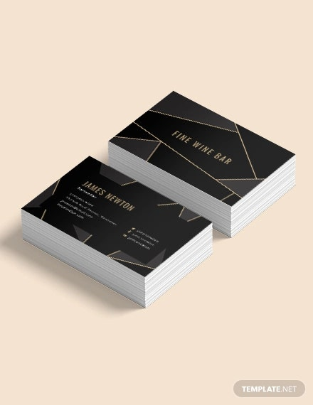 creative bartender business card
