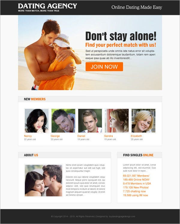 Free Dating Templates
