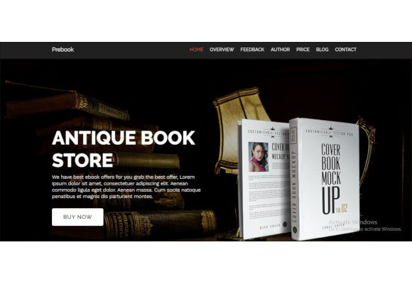 ebook landing page responsive bootstrap template