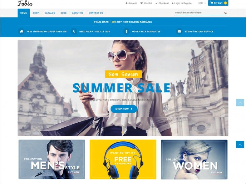 eCommerce Shopify Theme for Fashion, Clothing, Electronics