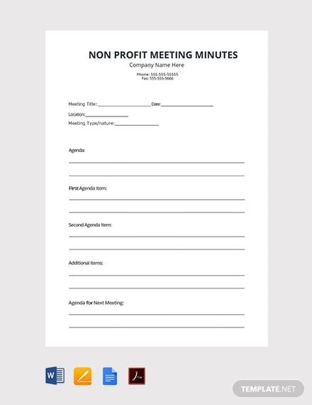 free non profit meetings