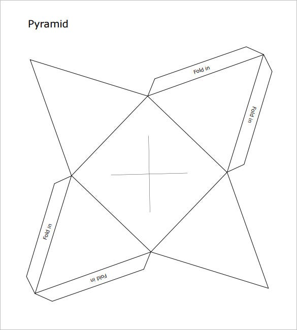 freebie pyramid box template