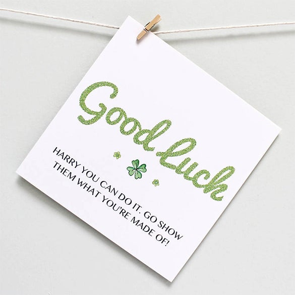 Lovely Design Your Own Good Luck Message Card With This Free Customizable Template  Available In Word And PDF Format. This Template Has The Words U0027Good Lucku0027  ... Throughout Good Luck Card Template