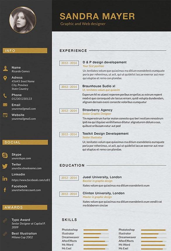 Designer Resume Template 8 Free Samples Examples Format  Resume Graphic Designer