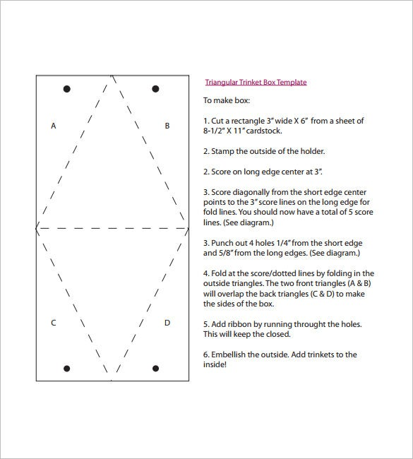 how to make a triangle box