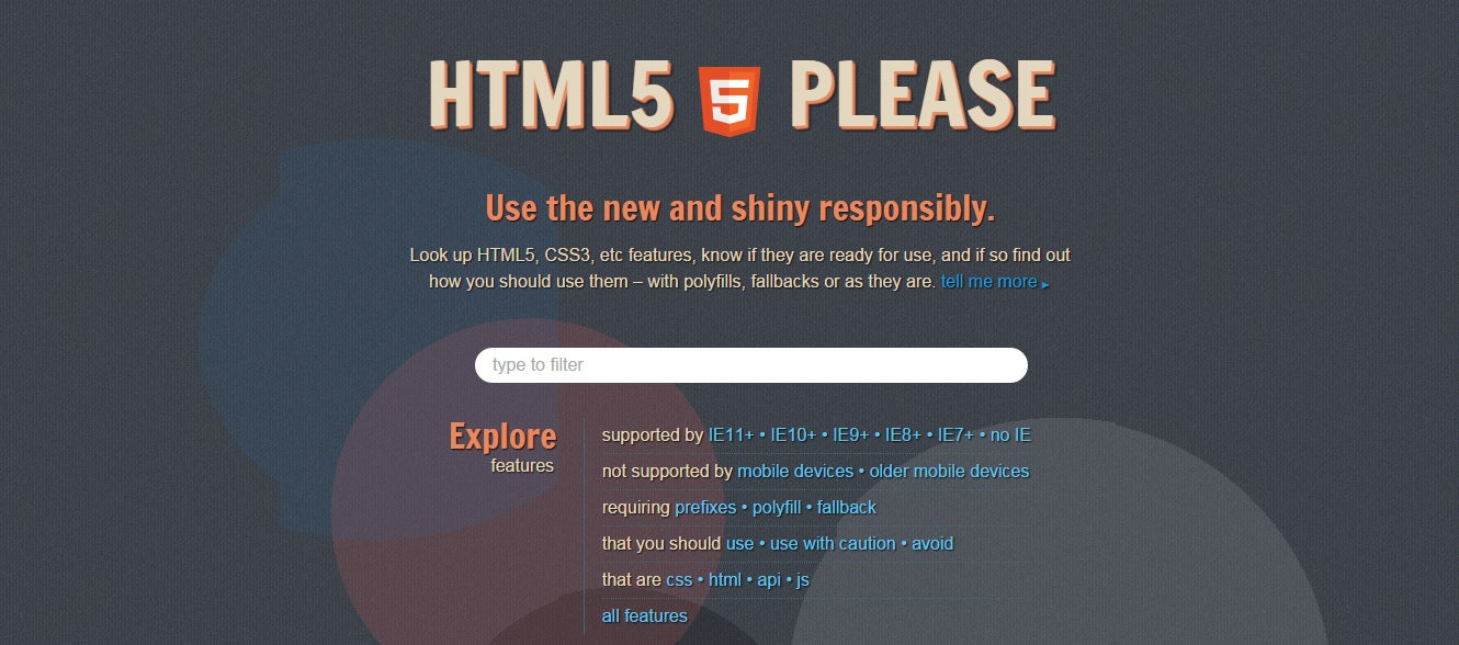html5please tools