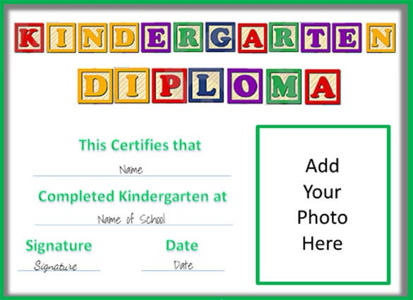 Certificate template 62 free printable word excel pdf psd kindergarten certificate of graduation template yadclub Image collections
