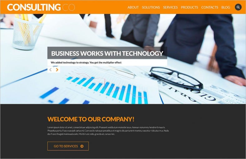 ophisticated corporate image wordpress theme 788x511