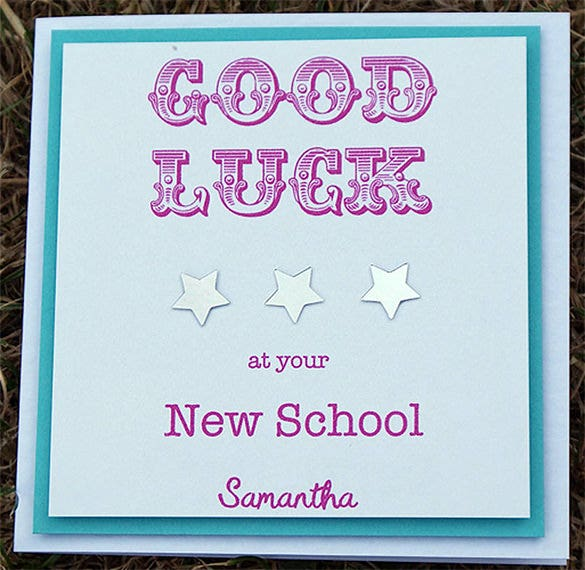 printable good luck cards