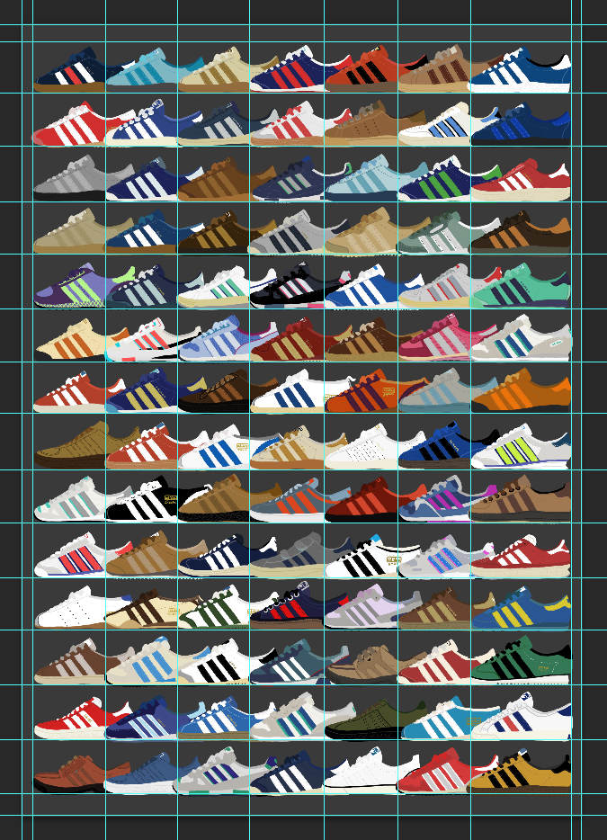 repeat pattern of the shoes in PS