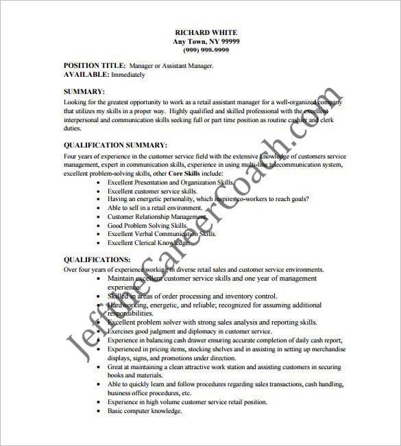 Cover letter for retail cashier job