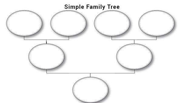 Family tree template word excel powerpoint download for Plain family tree template