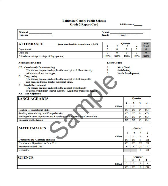 Progress Report Card Template 12Free Printable Word PDF PSD – Student Report Template Word