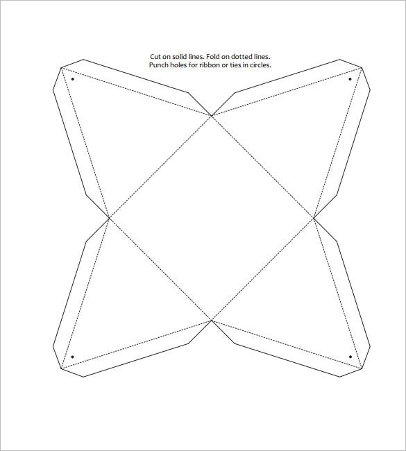 Triangle Box Template   Free Pdf Format Download  Free