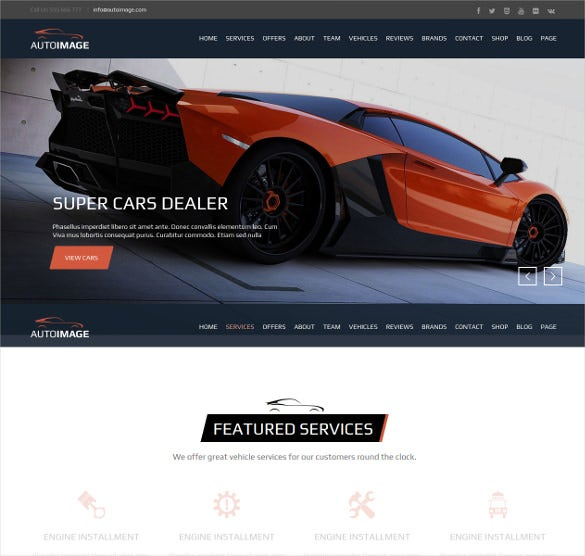Car Dealer Perfect HTML5 Website Template