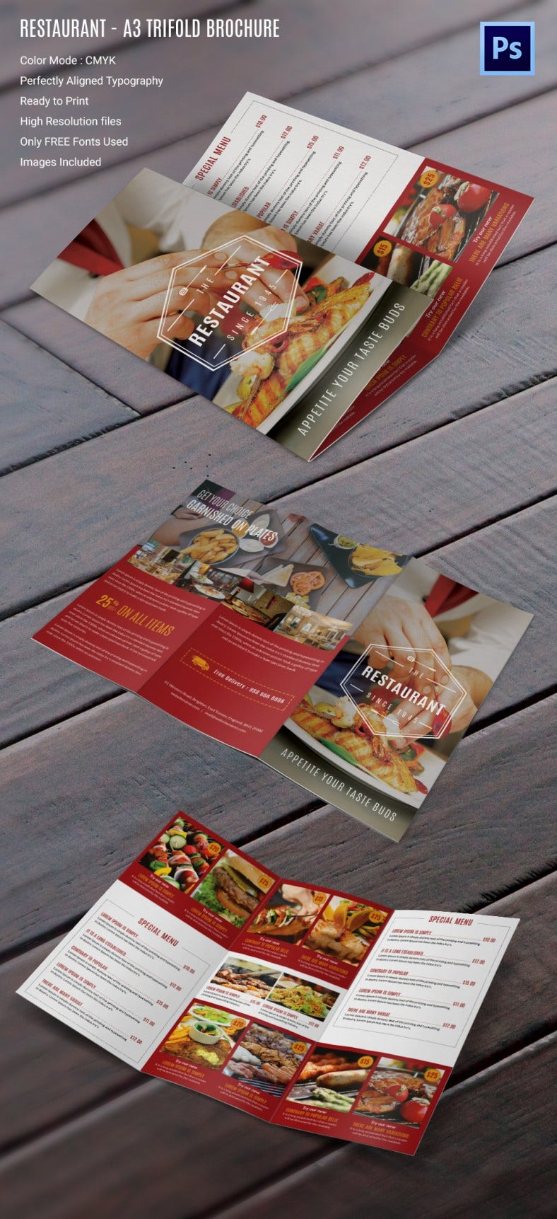 27 Restaurant Brochure Templates Free PSD EPS AI InDesign – Restaurant Brochure Templates