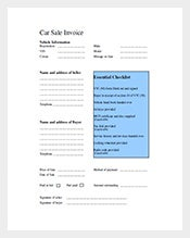 Car-Invoice-Template-Free